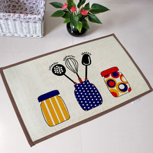 Flannel Front door mat/ bathroom mat/ soft warm and strong water absorption Kitchen utensils carpet with anti-slip back 40*60cm