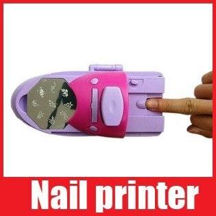 7 Colors DIY Nail Art Printer Pattern Nail Polish Printing Machine with 7 Nail Polishes Free Shipping 1111 111