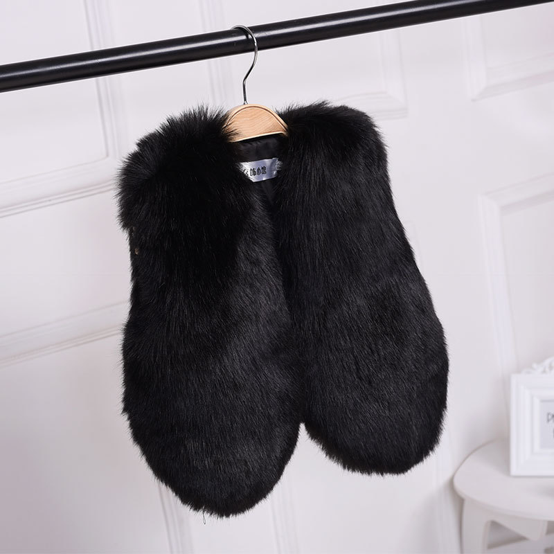 New Arrival baby Girls 39 Faux Fur vest baby clothing Cute Outerwear baby girl clothes children clothing warm vest in Vests from Mother amp Kids