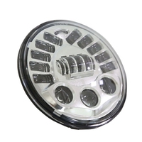 1 pcs 7 Inch Round Headlamp FOR Touring Road King Softail Fat Boy Equaliser H4 LED Moto Headlight