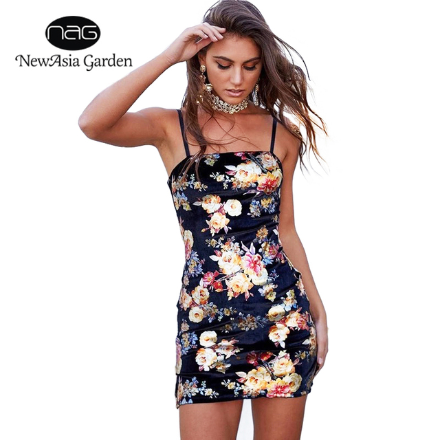 d1472f37c6a2b NewAsia Garden Women Summer Dress 2018 Bodycon Dress Sexy Floral Dress  Party Dresses Vestidos De Fest