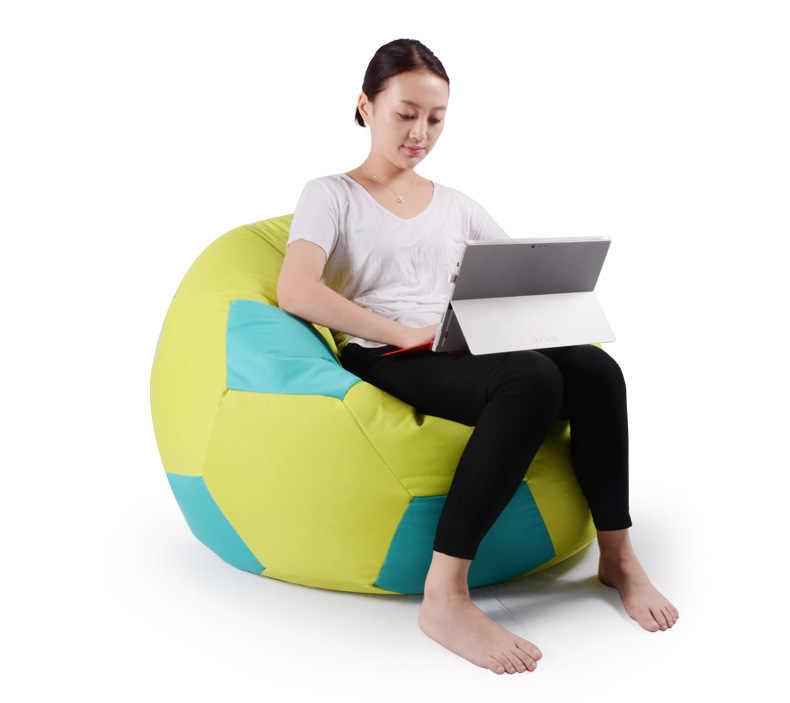 Cobrem apenas No Filler-90 cm diâmetro da copa do mundo de futebol projeto do saco de feijão cadeira, sala beanbag cadeira do sofá, relaxar espreguiçadeira