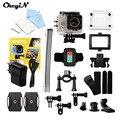 Ultra HD 4 K 170 Graus Grande Angular Câmera de Ação Câmera 16MP 2.0 Polegada Tela À Prova D' Água + 2.4G Sem Fio Controle remoto LMPJ