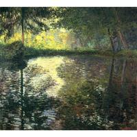 The Pond at Montgeron of Claude Monet art oil paintings Canvas reproduction hand painted