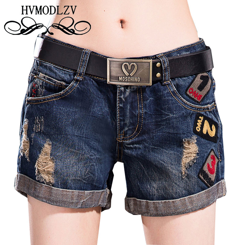 Summer New Women Curling Personality Shorts 2017 Hole Denim Shorts Casual Fashion Large Size Was Thin Shorts Women Ls351