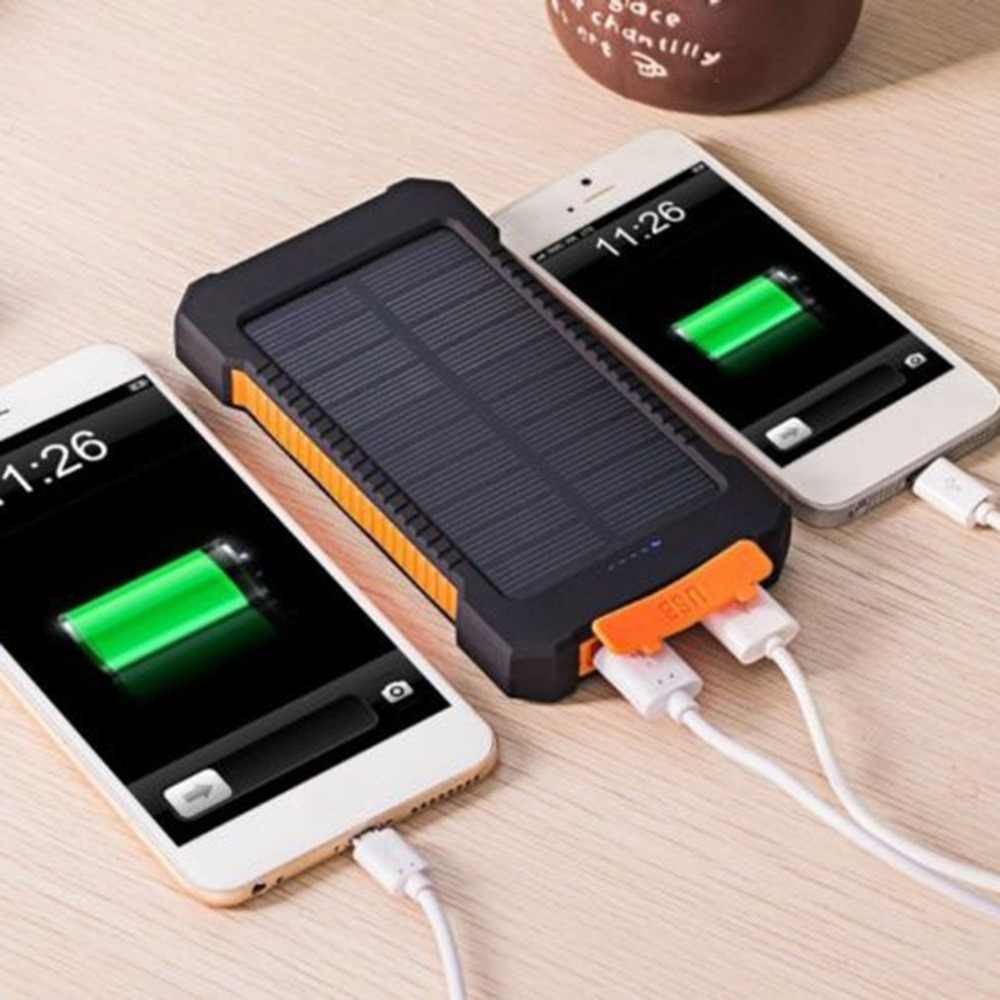 Large Capacity Solar Power Bank Dual USB Portable Solar Battery Charger Universal Mobile Phone Charger