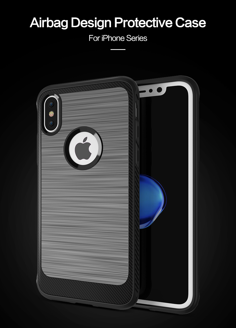 Luxury Shatterproof Cover For iPhone8 Phone Case Soft TPU Edge Hard PC i8 i 8 Case For Apple iPhone 8 Protective Accessories (1)