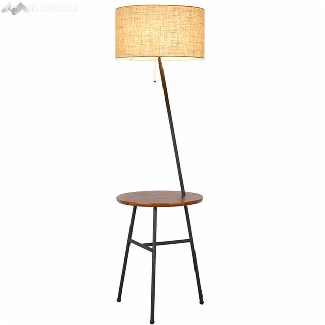 Merveilleux JW Nodic Style Modern Creative Wood Floor Lamp Tripod Storage Tray Floor  Light For Living Room