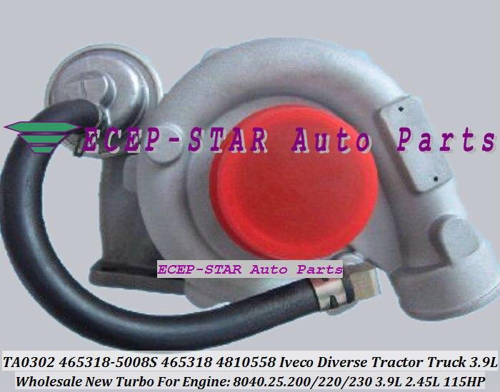 TA0302 465318-5008 S 465318-0008 465318 4810558 Turbo Pour IVECO Divers Tracteur Camion 8040.25.230 8040.25.200 8040.25.220 3.9L