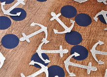 Nautical Anchor Sailor Boy Baby Shower Birthday Party Confetti -100pieces/pack