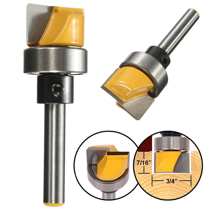 1pc High Quality 1/4 Inch Shank Flush Trim Hinge Mortise Template Router Bit For Woodworking Tool 2pcs high quality 1 2 inch shank rail