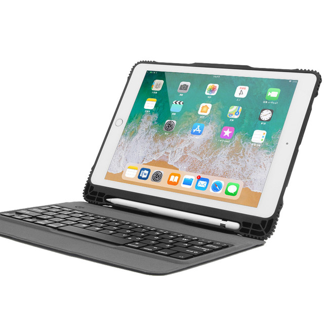 overmal Device Consumer Detachable Bluetooth Keyboard Leather Case For iPad PRO 10.5