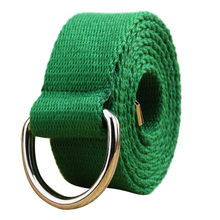 Double loop canvas belt belt belt men and women students lovers waistband Feminine Belt Men off white belt Best sale(China)