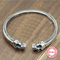 S925 sterling silver men's bracelet personalized classic vintage ornaments domineering skull modeling send lover's gift Bangles