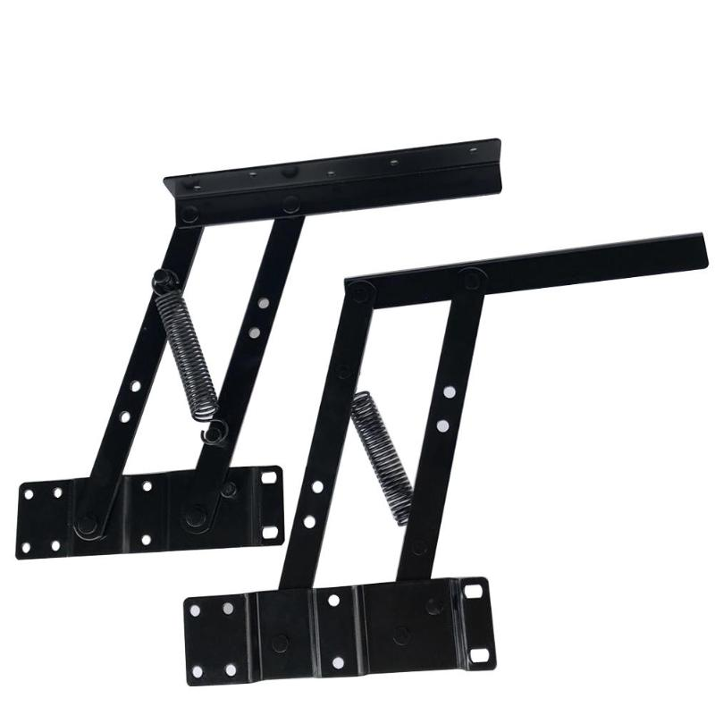 все цены на VP 2pcs Folding Spring Tea Table Hinge Furniture Hardware Lifting Rack Shelf D3 онлайн