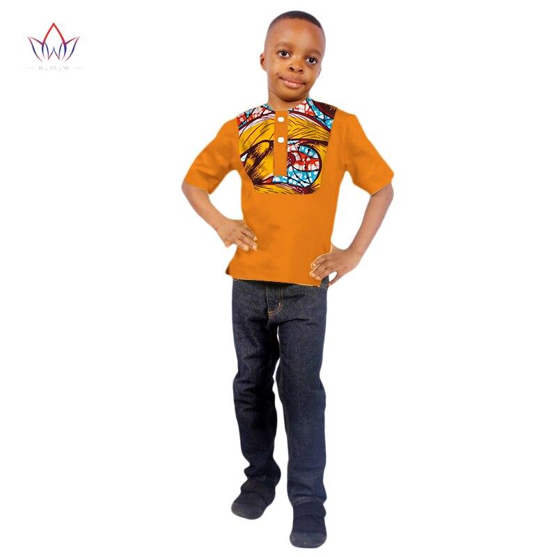 2017 Jungen Tops African Dashiki Drucken Kinder Kleidung Kurzen Ärmeln Hemd Plus Feste Farbe Für Kinder Wyt77