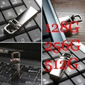 Metal Waterproof Key Ring Memory Disk USB 512GB 256GB 128GB Big Capacity Pendrive 64GB 32GB 16GB USB Pen Drive Free Shipping