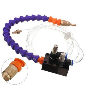 Image 2 - Sis soğutma yağlama püskürtme sistemi için 8mm hava borusu CNC torna freze matkap makinesi Metal kesme oyma soğutma makinesi