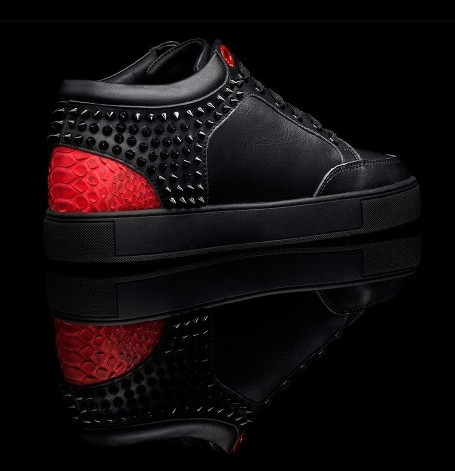 c7e6dbcc8bd sale royaums shoes holland royaums men kilian black red sneakers snakeskin  with rivet good quality free shipping-in Men's Casual Shoes from Shoes on  ...