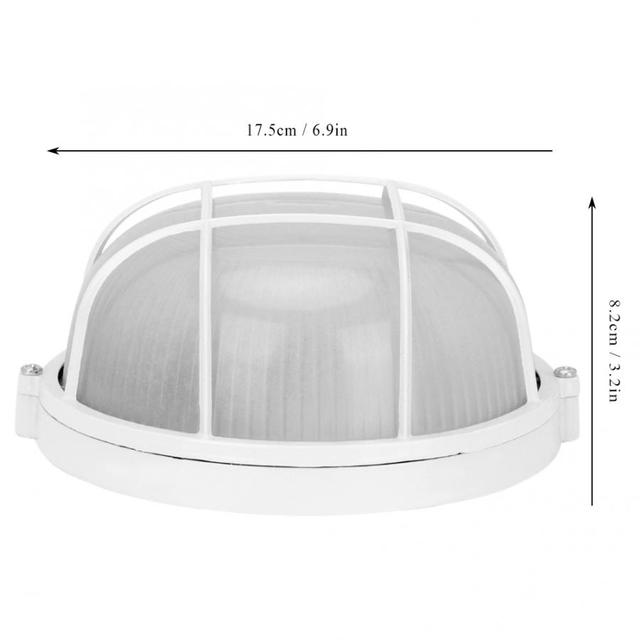 Oval Explosion Proof Anti-High Temperature Bulb Moisture Proof Round Lamp Light Accessories for Sauna Room Tools