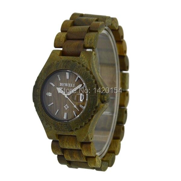 2016 High Quality Men's Green Sandalwood Bracelet Bewell Wood Wristwatch with Date солгар витамин с 500мг с малиновым вкусом 90 таблетки