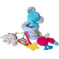 Cochecito de bebé caja de música de juguete de dibujos animados animal handbells juguete de desarrollo cama campanas soft plush toys traqueteo rosado, azul