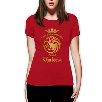 Women T-Shirt Game of Thrones Daenerys Targaryen Tshirt Funny T Shirts Cotton Tops Tee Shirt