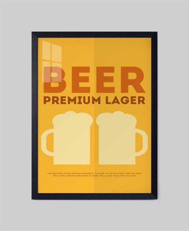 Divertido de La Cerveza Bar Sin Marco arte de la lona pared de ...