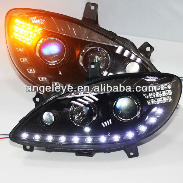 Buy for viano w639 led headlight with for Mercedes benz headlight lens