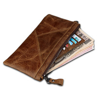 Women and Men Wallet Crazy Horse Anti RFID Hand Bag Multi Function Clutch Wallet Credit Card Holder