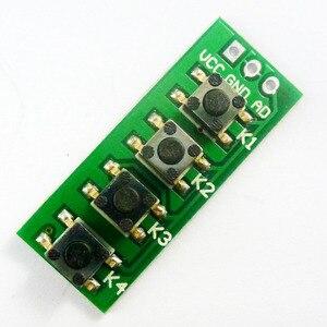 Image 3 - 10 Uds., con UNO MEGA2560, código de ejemplo Botón de teclado de salida analógica para Arduino, 3,3 V, 5V, 4 botones, 1
