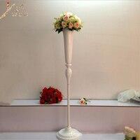 New Arrival White Flower Vase Height 120 cm Wedding Centerpieces Vase Decoration Event Party Road Lead 1 lot = 10 pcs