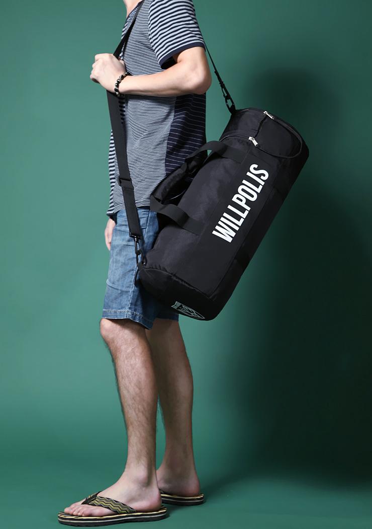 Prix pour MIWIND Vente Chaude mode Hommes femmes voyage Sac de Grande Capacité Hommes Messenger Sacs avec zipper sac à main épaule noir couleur