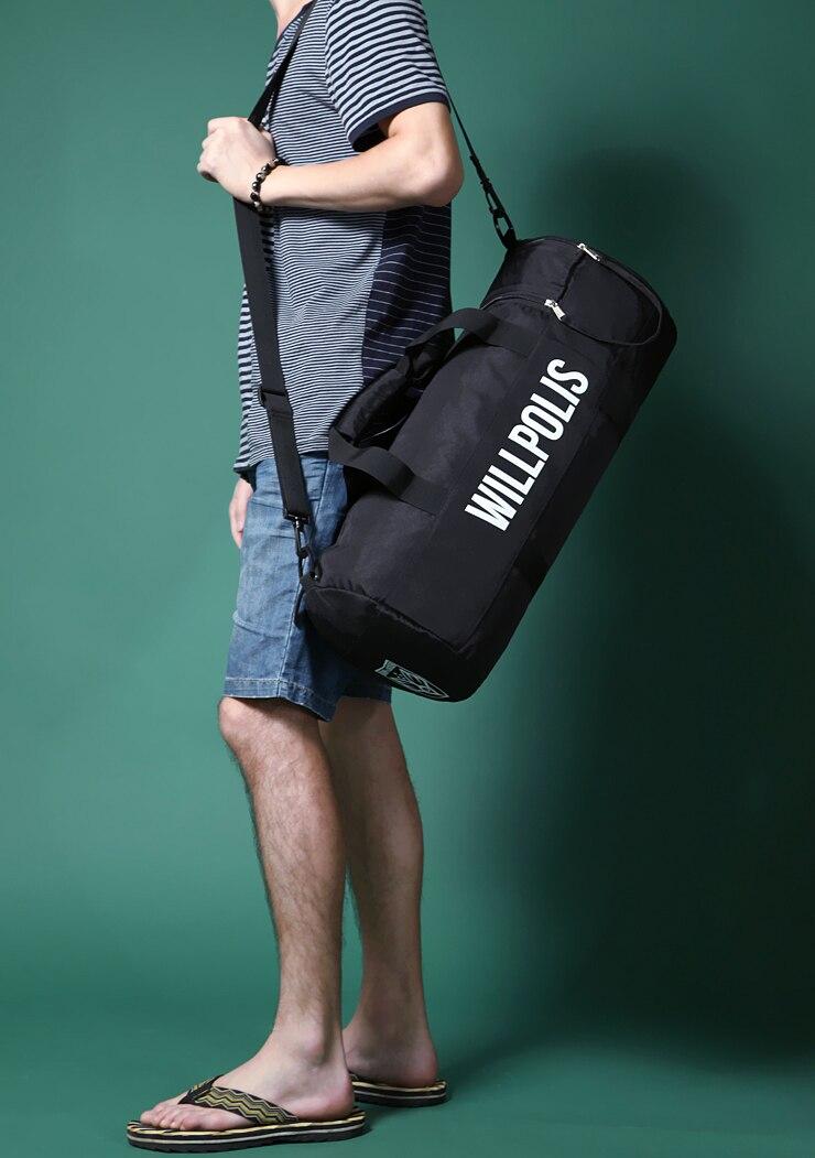 Vente chaude de mode Hommes femmes voyage Sac de Grande Capacité Hommes Messenger Sacs avec zipper sac à main épaule noir couleur