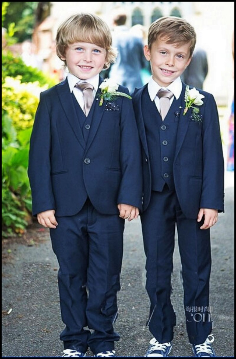 Top sell/Custom made Kid Clothing New Style Complete Designer Boy Wedding Suit/Boys Attire navy blue(Jacket+Pant+Tie+Vest)tuxedo