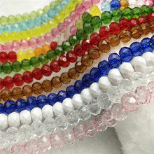 300Pcs 8mm Crystal Beads multicolor Faceted Acrylic Loose Spacer Round for Jewelry Making DIY Handmade Bracelet Wholesale