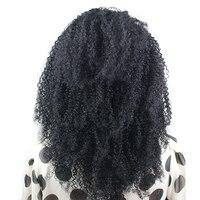 Eseewigs 150 плотность афро кудрявый вьющиеся 360 Кружева Фронтальная парики для волос предварительно сорвал бразильский Реми натуральные волосы