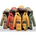 Niños chaquetas de 2016 nuevos niños espesantes abrigos boy largas secciones nagymaros chaqueta de invierno de down colalr de edad 7-15 T
