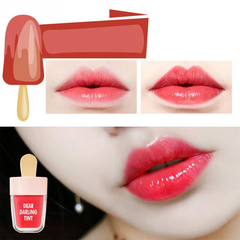 New Stylish Makeup Long-lasting Waterproof Ice Cream Lip Gloss Tint Glosses Set Beauty Cosmetic Liquid Lipstick 5