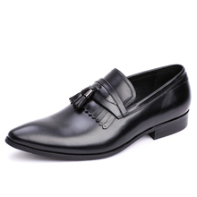 hot deal buy new fashion style men pointed toe black lace up business dress shoes men handmade business casual shoes large size js-a0045