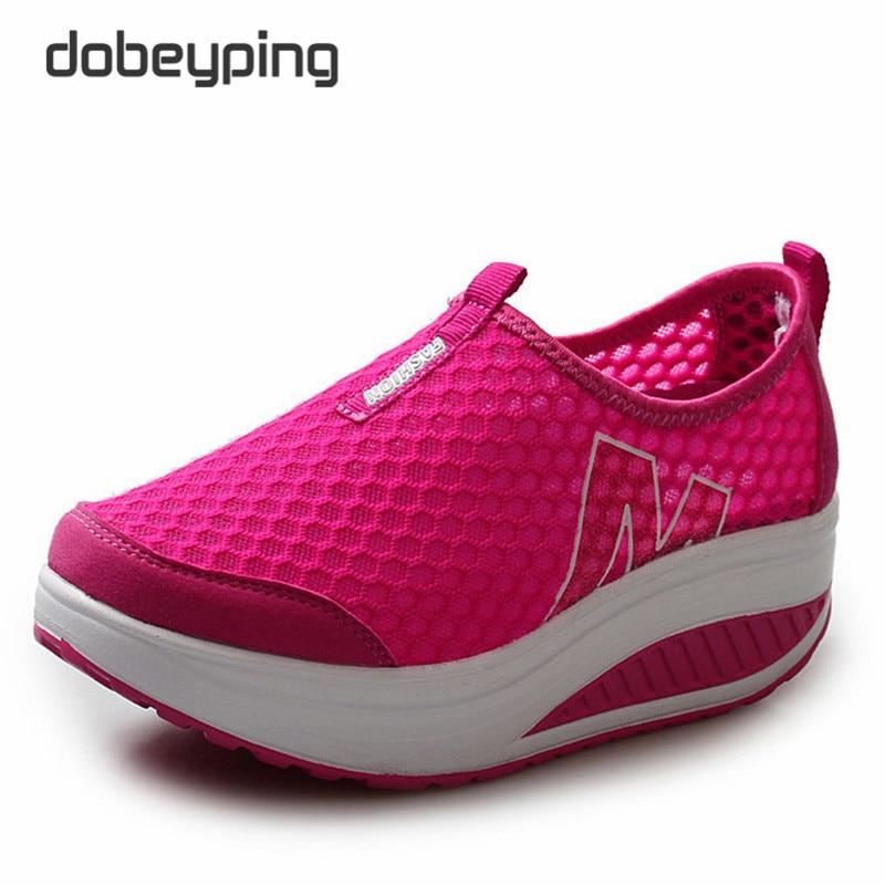 Neue Sommer Schuhe Frauen Atmungsaktive Air Mesh Frau Müßiggänger - Damenschuhe - Foto 4