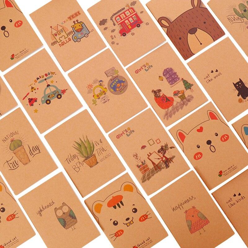 4pcs/lot Graffiti Cute Cartoon Kids Small Writing Craft Paper Blank Notebook Diy Handwritten Sketches Painting School Office