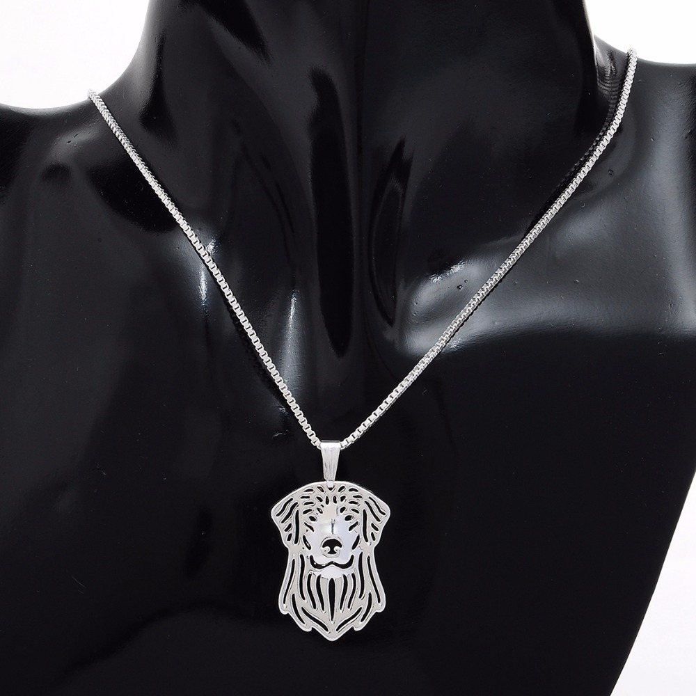 hot sale silver plated animal choker Imitation Golden retriever dog necklace mens jewelry Hollow Pendants girls women chain
