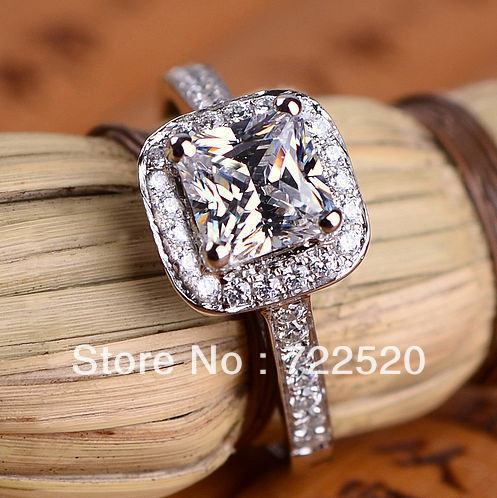 Us 140 0 Luxury 3 Carat Nscd Diamond Lab Grown Cushion Cut Ring Halo Wedding Princess Cut Engagement Ring In Rings From Jewelry Accessories On