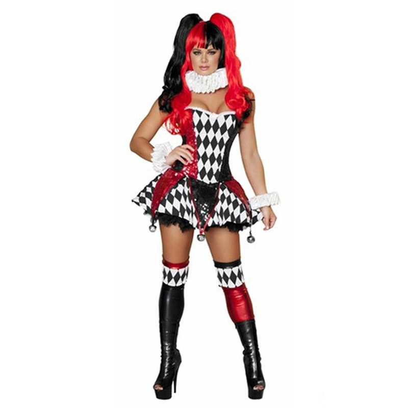 <font><b>Halloween</b></font> Cospaly Costume 2015 <font><b>Sexy</b></font> Strapless Fancy Dress <font><b>Adult</b></font> Jeter Cutie Cosplay Costume W84440 image