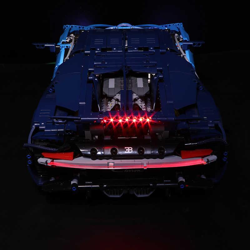 Zestaw światła Led do obsługi Lego 42083 kompatybilny 20086 Bugatti Chiron technic samochód wyścigowy klocki zabawki prezenty (tylko światło)