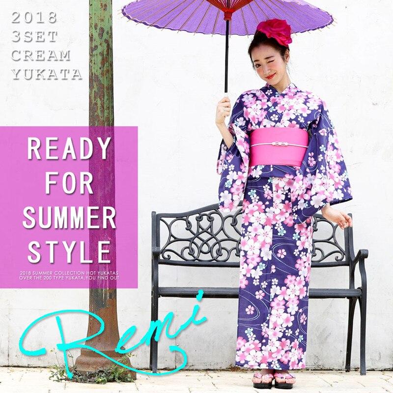 Traditional Kimono Japanese Women Kimono YUKATA Floral Casual Bathrobe Long Robe Gown Formal Evening Party Dress Lady Gift