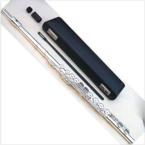 16 close  hole obturator E key nickel plated flute,the surface of silver plated flute16 close  hole obturator E key nickel plated flute,the surface of silver plated flute