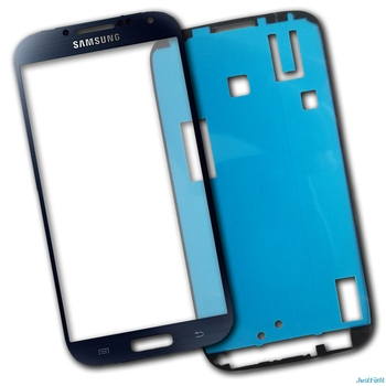Front Glass Lens For Samsung Galaxy S4 i9500 i9505 glass LCD display outer touch panel screen glass replacement+Stickers image
