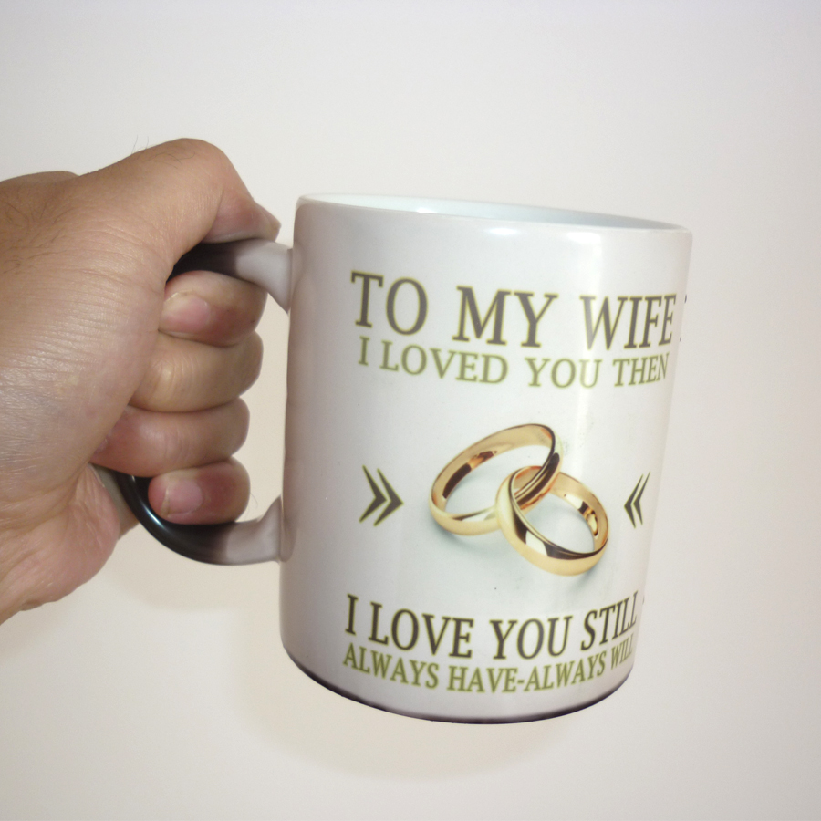 Good Best Gift For My Wife Part - 11: To My Wife / Husband Mug Magic Color Changing Coffee Mug Wedding  Anniversary Gifts, Best Gift For Your Wife Or Husband-in Mugs From Home U0026  Garden On ...